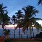 sunset at samudra beach